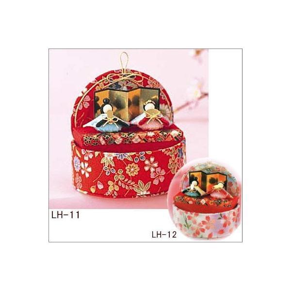 パナミ ちりめん細工 桃のたまて箱 LH-11/LH-12 雛人形 手作りキット 節句 ミニ コンパクト 取寄せ商品|handcraft