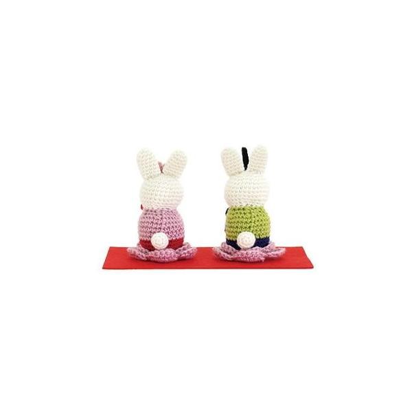 オリムパス MK-67 うさぎのお雛様 あみぐるみキット ひなまつり 手芸キット 雛人形 手作りキット 節句|handcraft|02