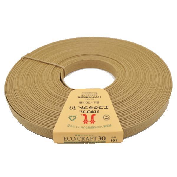 ハマナカ エコクラフト30m巻ナチュラルNO.101ベージュ クラフトテープ 紙バンド