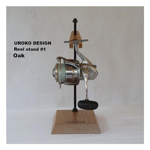Reel stand 一台用 リールスタンド RS1 オーク (UROKO DESIGN ウロコデザイン) スピニングリール用