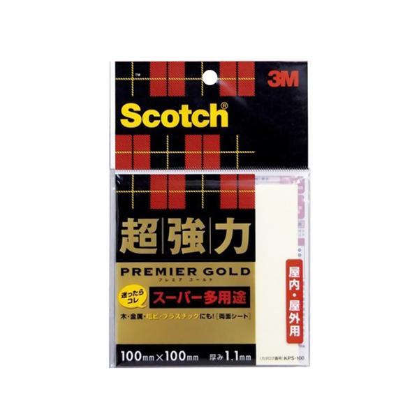 3M 超強力両面シート プレミアゴールドスーパー多用途 KPS−100 100mm×100mm│ガムテープ・粘着テープ 布テープ 東急ハンズ