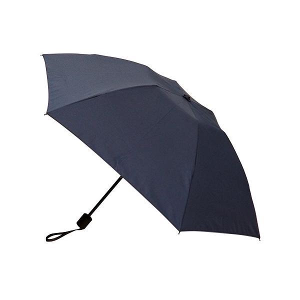 hands+ 新簡単開閉超撥水折りたたみ傘 70cm ネイビーボーダー 送料無料 東急ハンズ