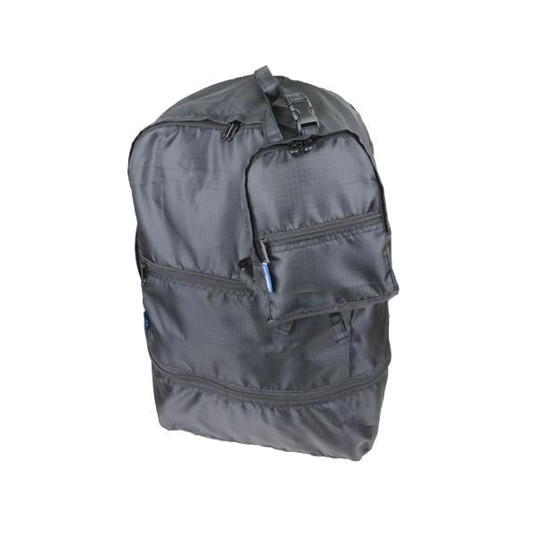 STARTTS 折畳バッグ 拡張リュック MF05 ブラック│スーツケース・旅行かばん 折りたたみバッグ 東急ハンズ
