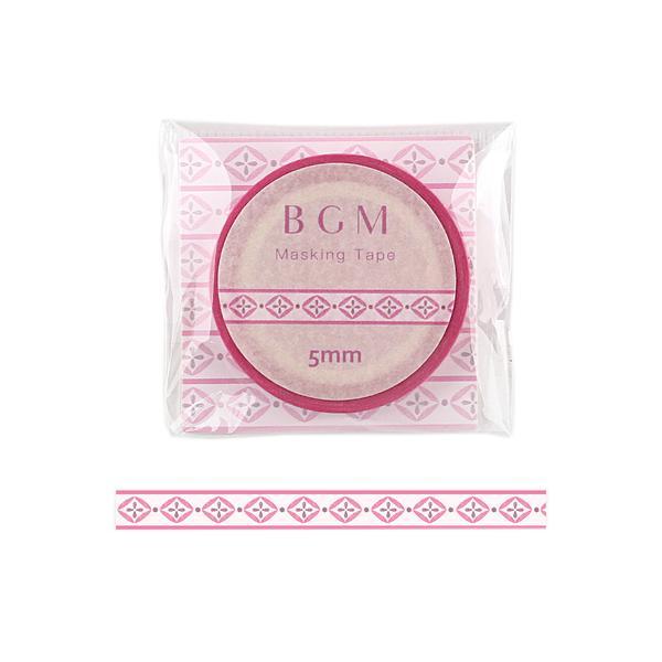 ビージーエム(BGM) マスキングテープ ライフ 5mm BM−LS055 織リボン ピンク│シール マスキングテープ 東急ハンズ