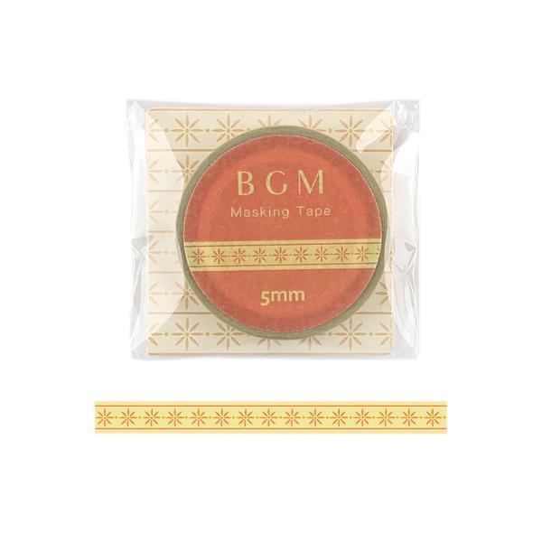 ビージーエム(BGM) マスキングテープ ライフ 5mm BM−LS056 織リボン イエロー│シール マスキングテープ 東急ハンズ