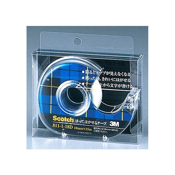 3M スコッチ はってはがせるテープ 811−1−18D 18mm×15m│ガムテープ・粘着テープ 透明テープ 東急ハンズ