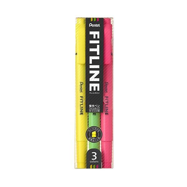 ぺんてる フィットライン 3色セット SLW11−3│マーカー・サインペン 蛍光ペン 東急ハンズ