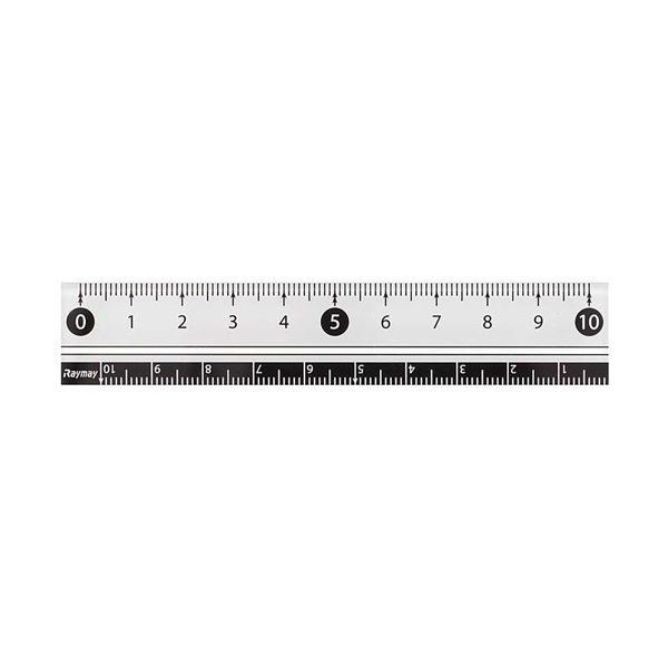 レイメイ 白黒定規10cm 白 APJ128W│定規・コンパス コンパス 東急ハンズ