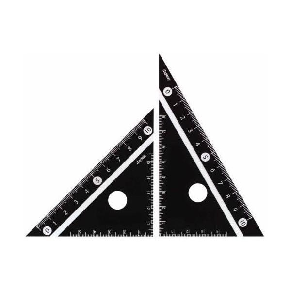レイメイ 白黒三角定規 10cm APJ251B 黒│定規・コンパス コンパス 東急ハンズ