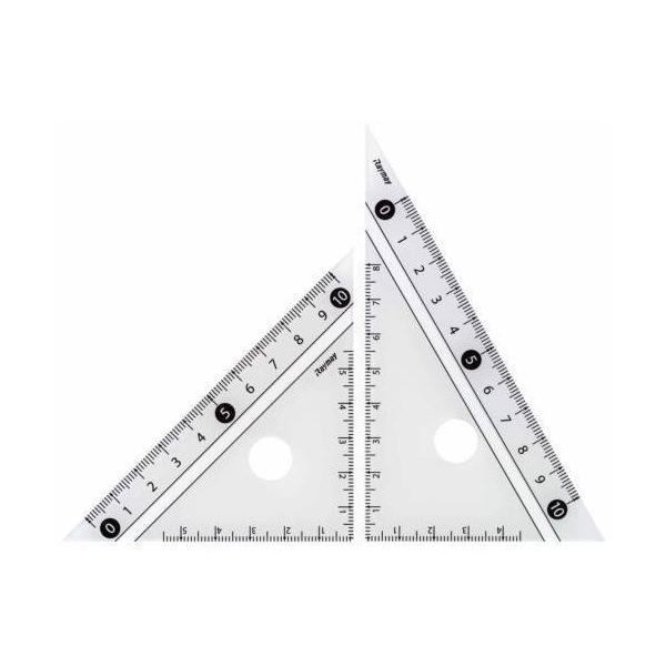レイメイ 白黒三角定規 10cm APJ251W 白│定規・コンパス コンパス 東急ハンズ