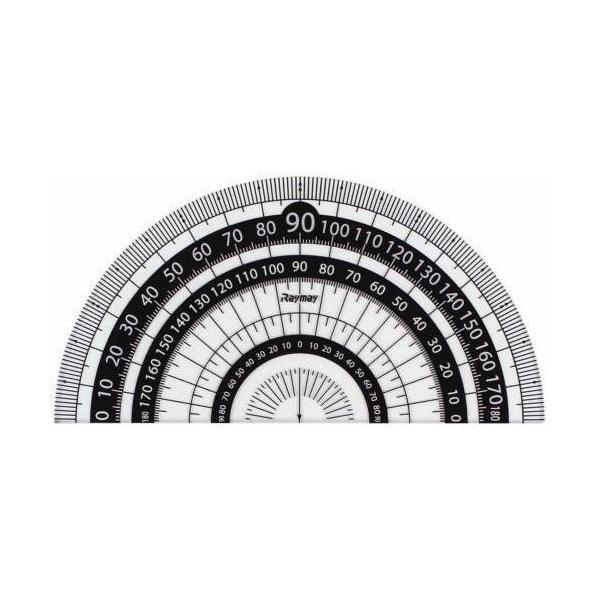 レイメイ 白黒分度器 9cm APJ151B 黒│定規・コンパス コンパス 東急ハンズ