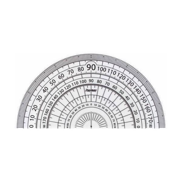 レイメイ 白黒分度器 9cm APJ151W 白│定規・コンパス コンパス 東急ハンズ