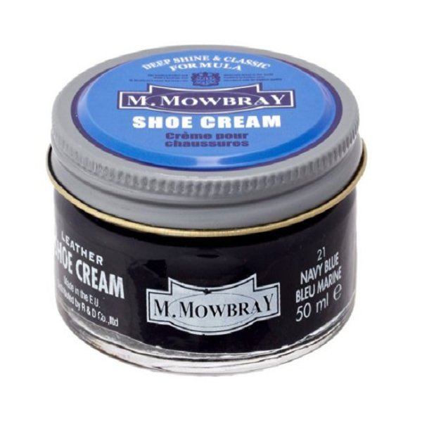 M.MOWBRAY エム.モゥブレィ シュークリーム ネイビーブルー│靴磨き・シューケア用品 レザーオイル 東急ハンズ