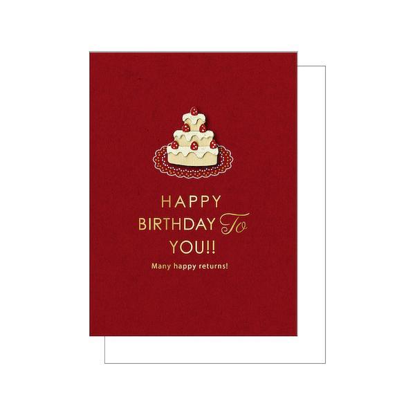 アートプリントジャパン ウッドパーツバースデーカード ショートケーキ│カード・ポストカード バースデー・誕生日カード 東急ハンズ