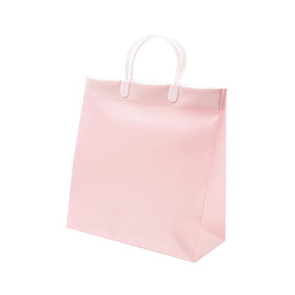 Z&K ビニールキャリーバッグ L 24−211 ピンク│ラッピング用品 手提げ袋 東急ハンズ