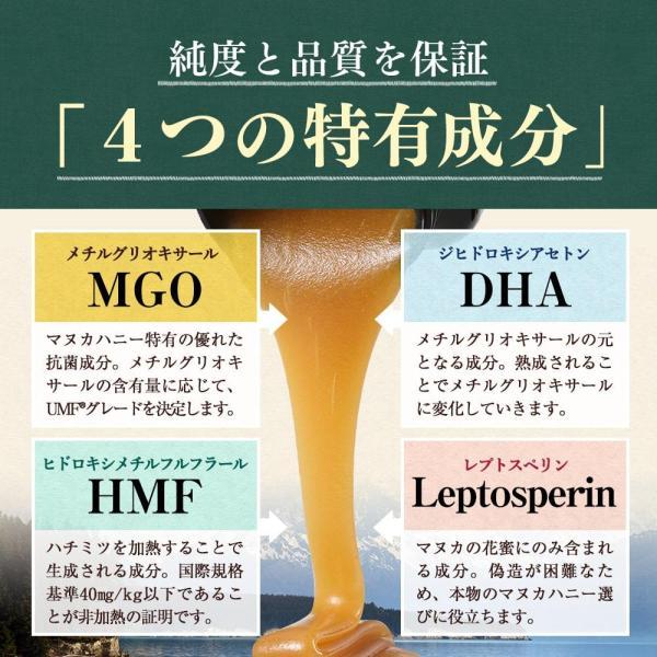 マヌカハニー UMF15+ 250g ハニーバレー マヌカハニー MGO 514〜828相当 はちみつ 蜂蜜|hands|10