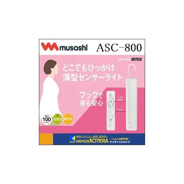 ☆在庫あり☆【musashi ムサシ】RITEX ライテックス どこでもひっかけ薄型センサーライト(ASC-800)