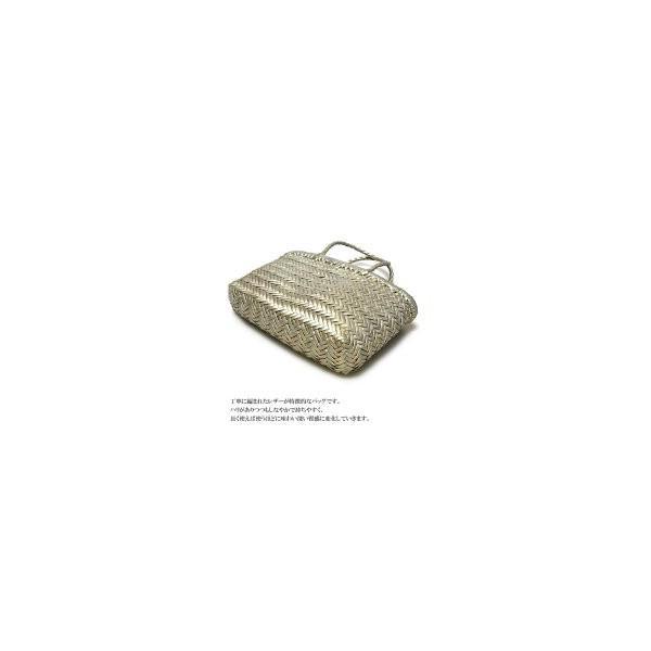 Dragon Diffusion ドラゴン・ディフィジョン 本革 レザー シルバー ピューター イントレチャート メッシュ 編みバッグ メルカドバッグ Lether Bag Pewter