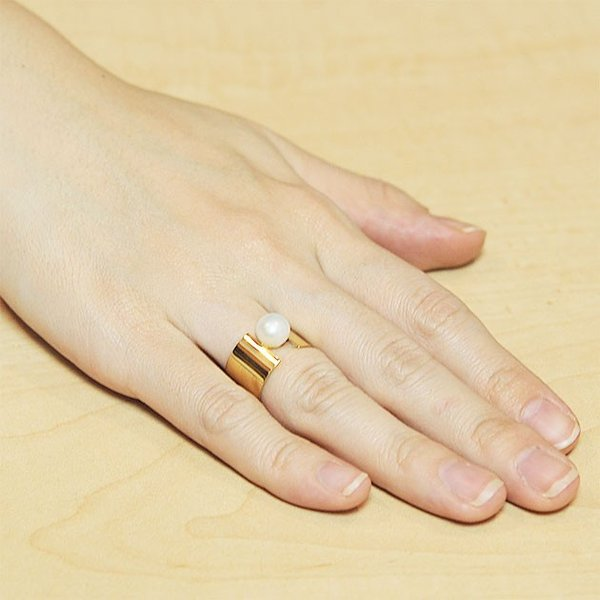 FULL OF GRACE フルオブグレイス パール リング Jours Open Ring (Gold) レディース