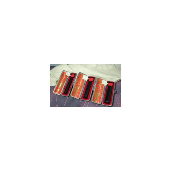 印鑑セット/黒水牛(実印・銀行印・認印)3本セットB(ケース付)/16.5/13.5/12.0