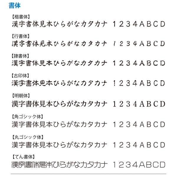 シャチハタ 角型印 2580号 ( 印面サイズ : 25×80mm ) Aタイプ|hanko-king|03