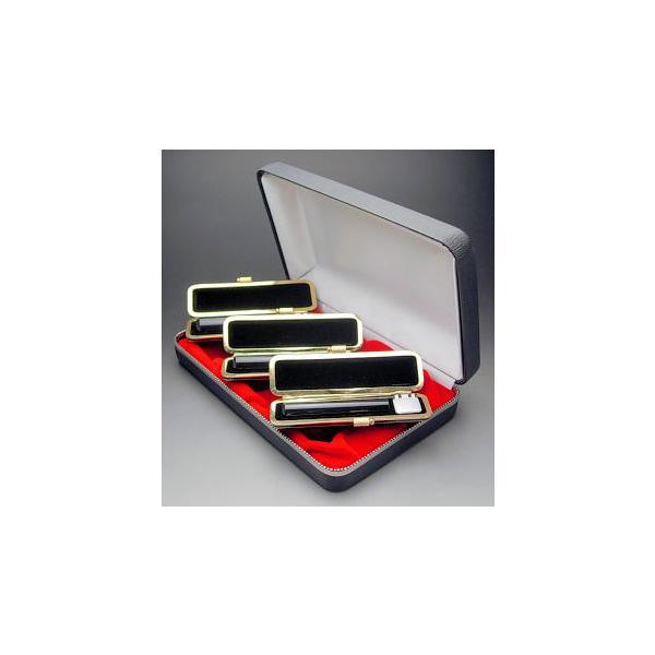 実印・銀行印・認め印セット 天然黒水牛(芯持極上)13.5・12・10.5ミリ