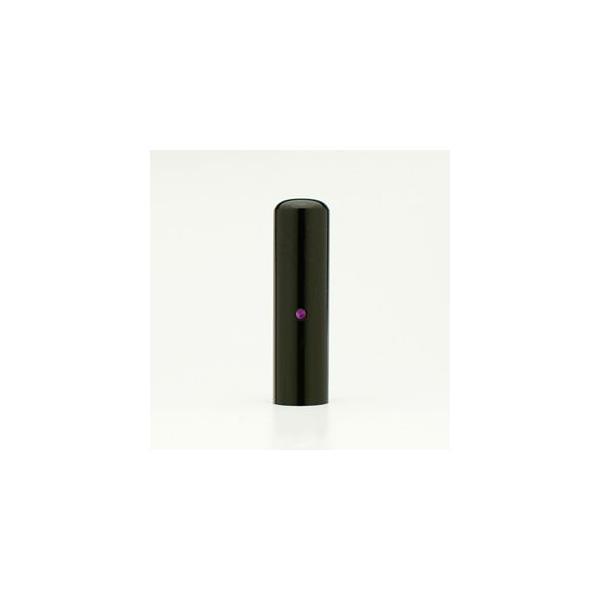 送料無料◆印鑑 はんこ/EXECUTIVE黒水牛/アメジスト/会社実印/16.5mm(寸胴タイプ)