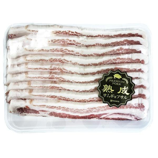 【豚肉/輸入産】熟成豚バラスライス(10mm/1kg)〔クール便選択〕