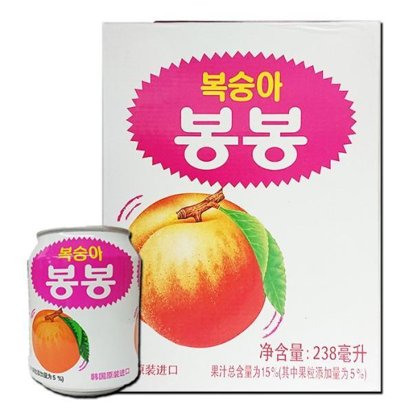 【ヘテ】桃ジュース 238mX1箱(12缶)★1缶当り¥86(税込)〔お中元 御中元 ギフト お歳暮〕