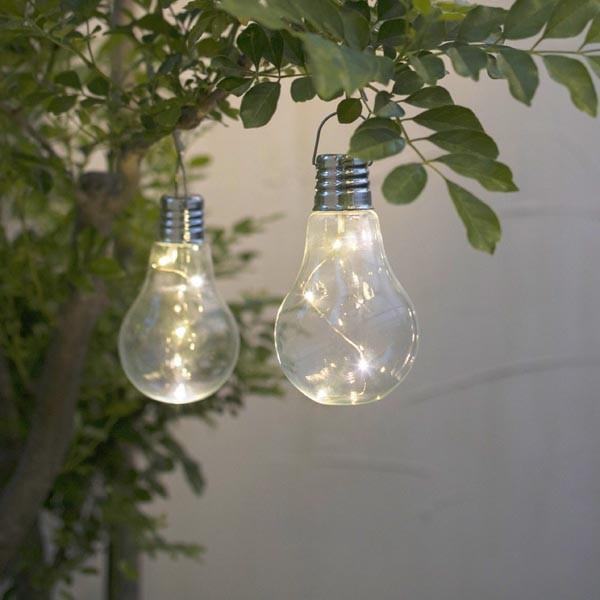 ソーラー電球型ライト ガーデンソーラーライト 電球 ソーラーライト