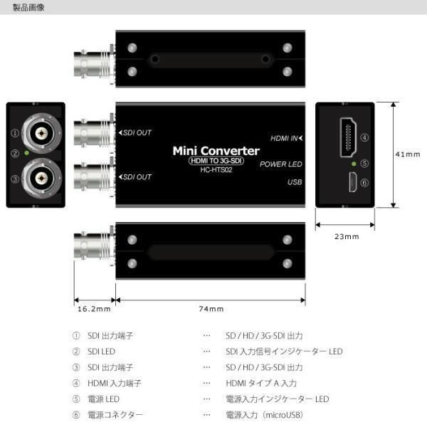 HC-HTS02 HDMI→SDI変換コンバーター HDMI信号を2つのSDI信号に変換・分配するコンバーター|hanwha|02