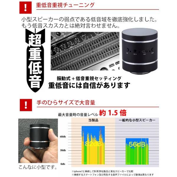 アレクサでも使える振動スピーカー Bluetooth ポータブル ワイヤレス 充電式 10W 重低音|hanwha|03