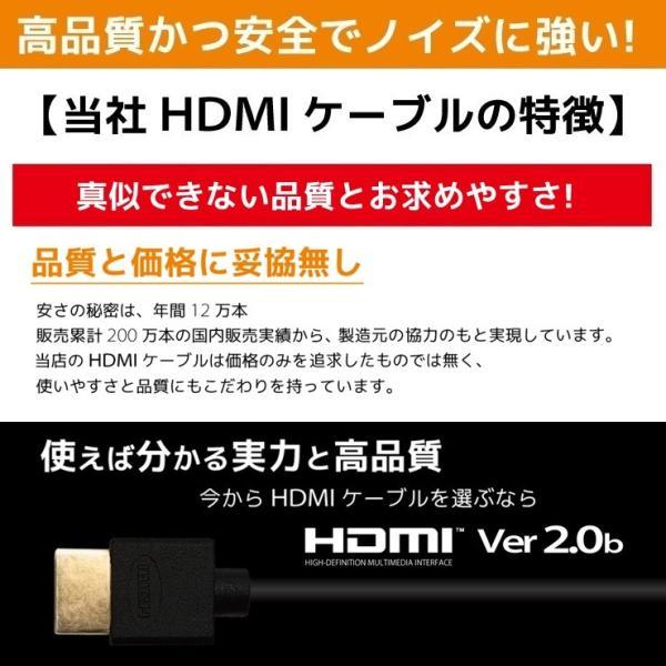 HDMIケーブル 1m Ver.2.0b HDMI ケーブル フルハイビジョン 4K 3D対応 1.0m 100cm HDMI10T 「メ」 hanwha 11