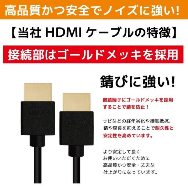 HDMIケーブル 1m Ver.2.0b HDMI ケーブル フルハイビジョン 4K 3D対応 1.0m 100cm HDMI10T 「メ」 hanwha 10