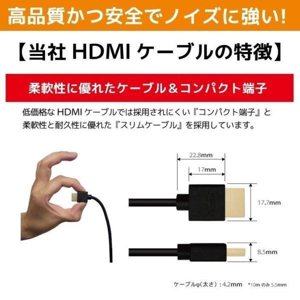 HDMIケーブル 2m 1m Ver.2.0b フルハイビジョン HDMI ケーブル 4K 8K 3D 対応 2.0m 1.0m 200cm 100cm HDMI20T 「メ」|hanwha|11