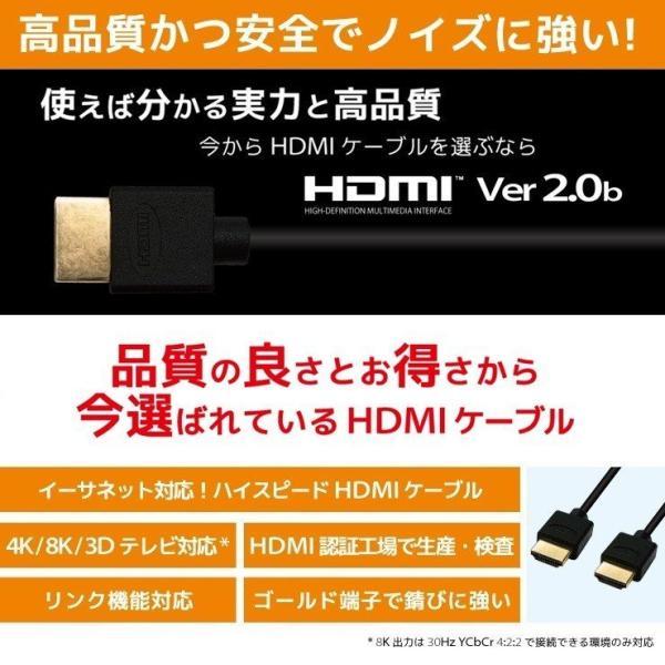 HDMIケーブル 2m フルハイビジョン 4K(30Hz) 対応 2.0m 200cm HDMI20T 「メ」|hanwha|05