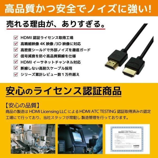 HDMIケーブル 2m 1m Ver.2.0b フルハイビジョン HDMI ケーブル 4K 8K 3D 対応 2.0m 1.0m 200cm 100cm HDMI20T 「メ」|hanwha|06