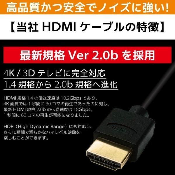 HDMIケーブル 2m 1m Ver.2.0b フルハイビジョン HDMI ケーブル 4K 8K 3D 対応 2.0m 1.0m 200cm 100cm HDMI20T 「メ」|hanwha|08