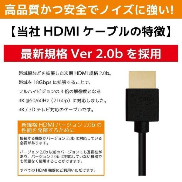 HDMIケーブル 2m 1m Ver.2.0b フルハイビジョン HDMI ケーブル 4K 8K 3D 対応 2.0m 1.0m 200cm 100cm HDMI20T 「メ」|hanwha|09