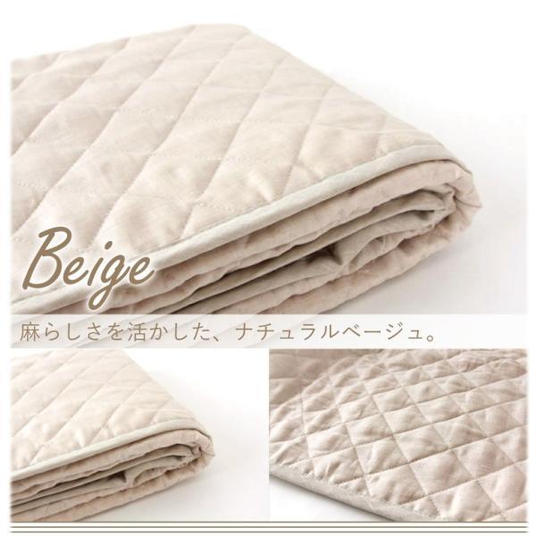 麻 敷きパッド セミダブル  120×200  フレンチリネン100% 日本製 [りんね オリジナル] | 凛寝 麻100 ひんやり 冷感 涼感 夏 洗える ベッドパッド 敷パッド|hanzam|06