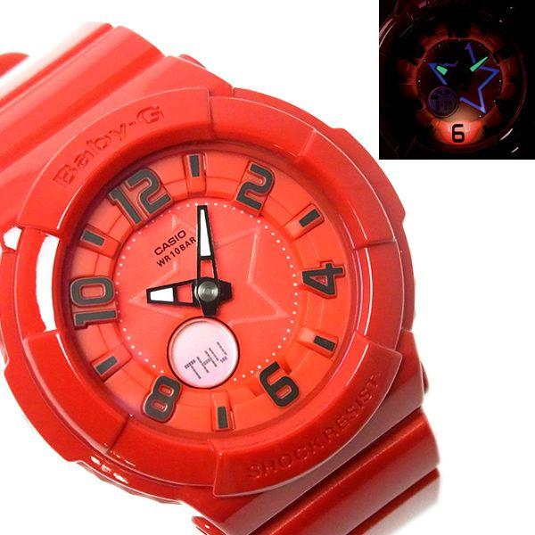 ceb137af74 ... ベビーG Baby-G カシオ 腕時計 レディース BGA-133-4 レッド 赤 ベビー ...