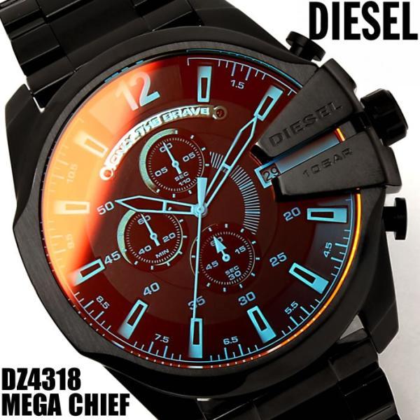 ディーゼル メンズ腕時計 DIESEL クロノグラフ メガチーフ MEGA CHIEF DZ4318|hapian