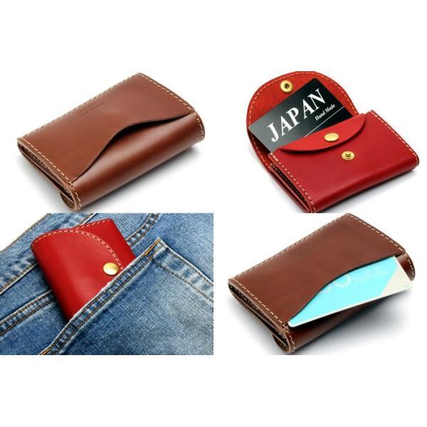 最上級 栃木レザー ミニウォレット ミニ財布 日本製 ハンドメイド 手のひらサイズ JP-3000|hapian|03