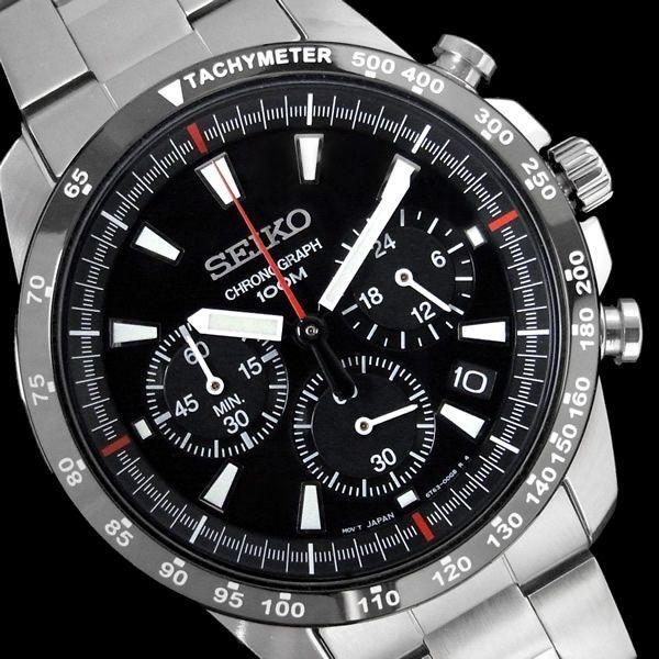 クロノグラフ セイコー メンズ 腕時計 SEIKO セイコー SSB031 逆輸入|hapian|02
