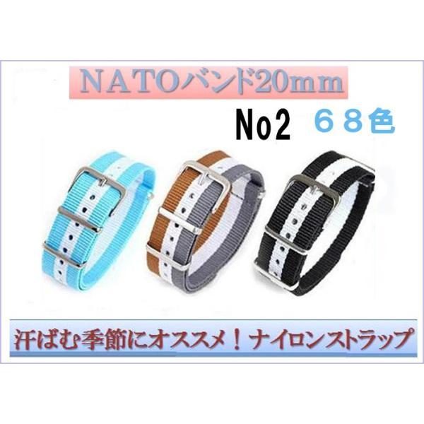 時計ベルト NATOバンド ナイロンストラップ ナトータイプ NATOベルト TIMEX CASIO KNOTOなど 替えバンド  20mm_2
