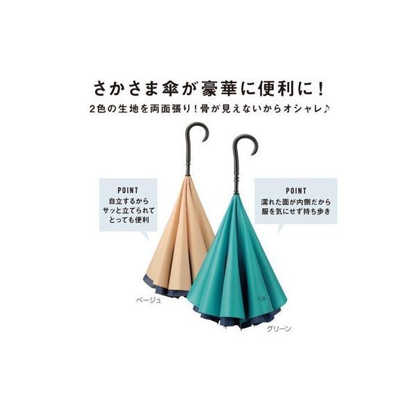 逆さ傘 逆さま傘 レディース ギフト 粗品 販促品 プレゼント ノベルティ|happinesnet-stora