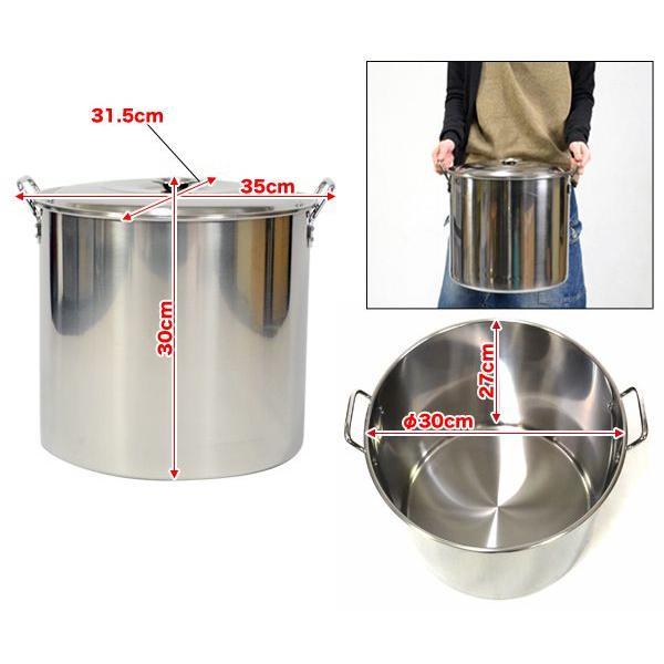 寸胴鍋 業務用 30cm 19L ステンレス製 0Z09-30CM|happiness2014|03