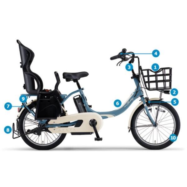 電動自転車 子供乗せ 3人乗り レンタル 1ヶ月 ヤマハ PAS Babby un (パスバビーアン) 12.3Ah 20インチ 自社便エリア対象(送料無料)|happy-cycle-setagaya|02