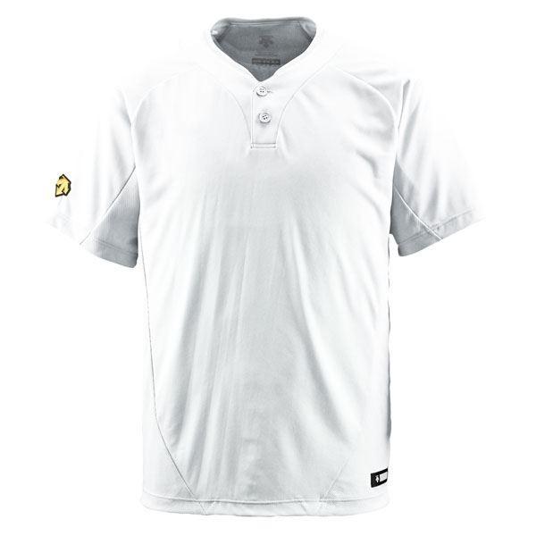 デサント(DESCENTE) ベースボールシャツ(2ボタン) (野球) DB201 Sホワイト L