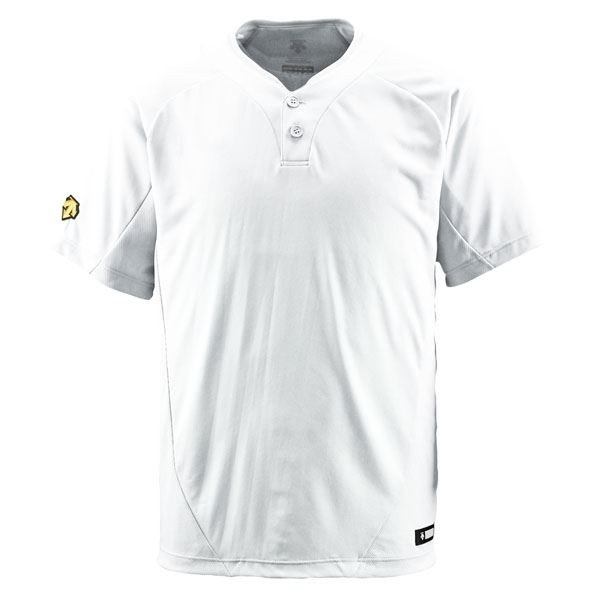 デサント(DESCENTE) ベースボールシャツ(2ボタン) (野球) DB201 Sホワイト S